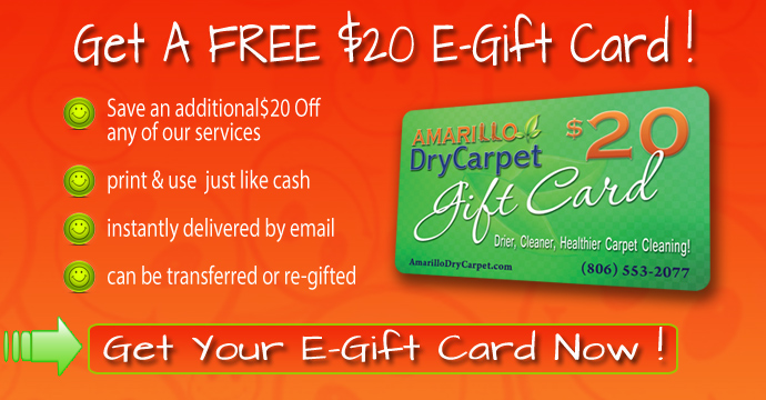 Amarillo Dry Carpet Cleaning - Free E-Gift Card